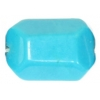 Turquonite Stabilized 15x17mm Facet Nugget Semi-Precious